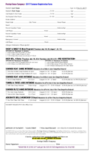 Summer Registration Form